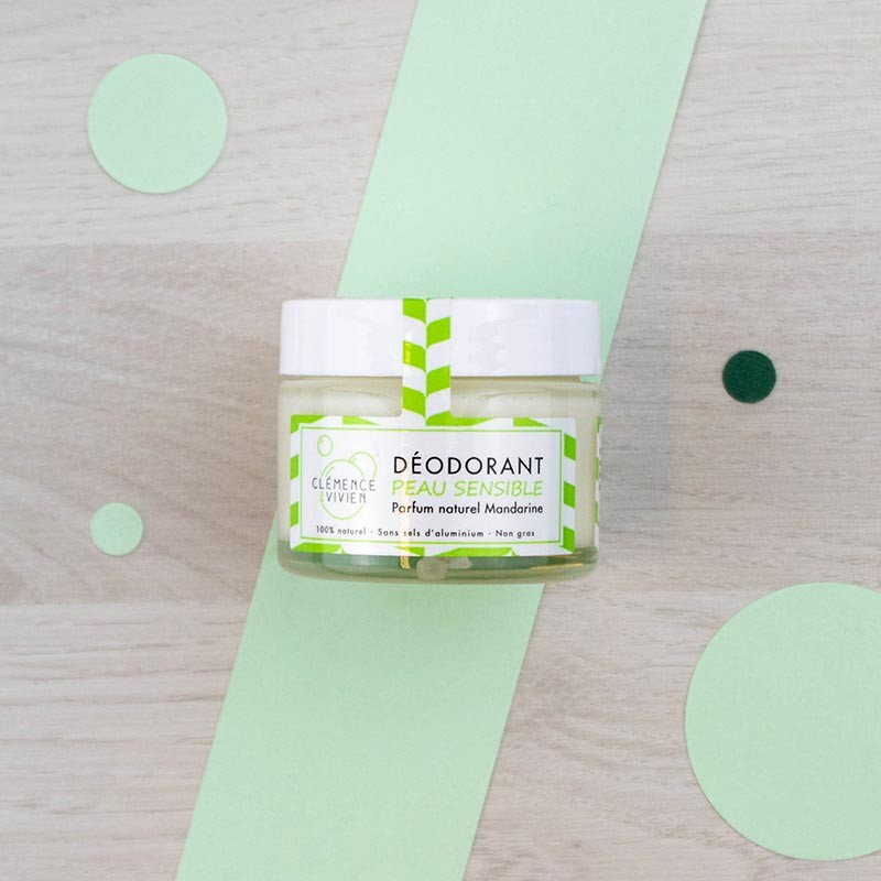 Déodorant Baume naturel - Mandarine - Clémence et Vivien | GreenMeow