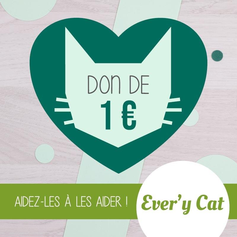 Don de 1 € à Ever'y Cat asbl | GreenMeow