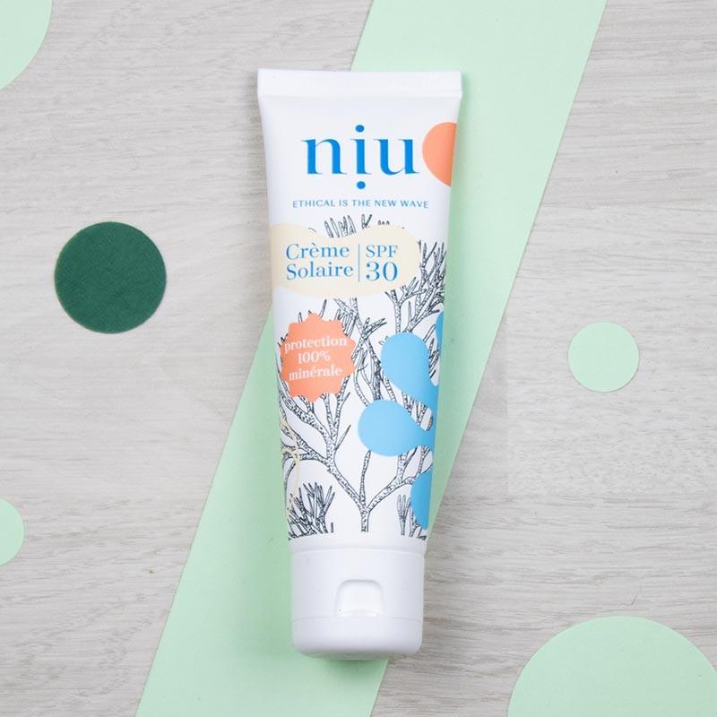 Crème solaire minérale et naturelle SPF30 en tube - NIU | GreenMeow