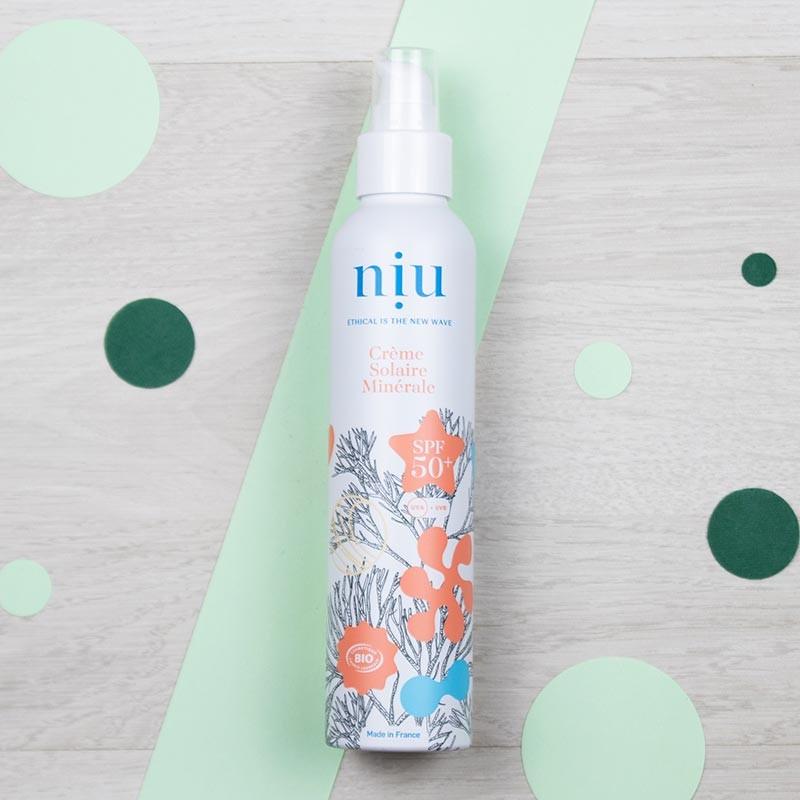 Crème solaire minérale naturelle SPF50+ Niu | GreenMeow