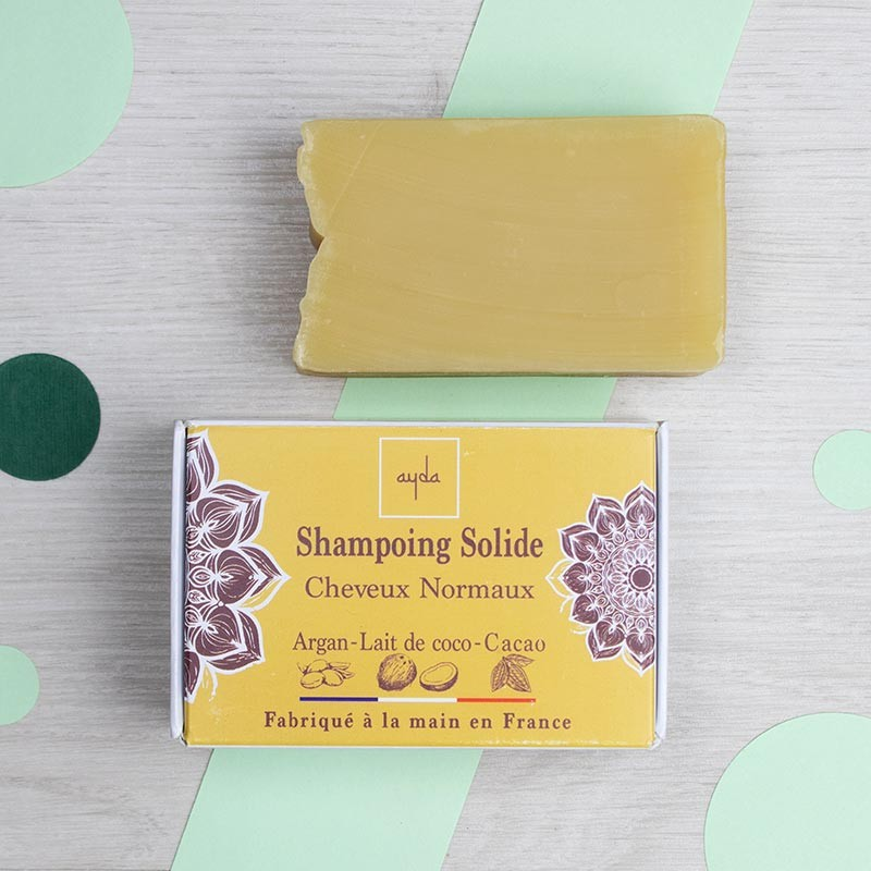 Shampoing solide naturel pour cheveux normaux - Ayda | GreenMeow