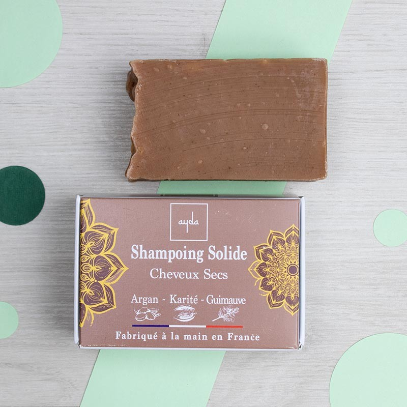 Shampoing solide naturel pour cheveux secs - Ayda | GreenMeow