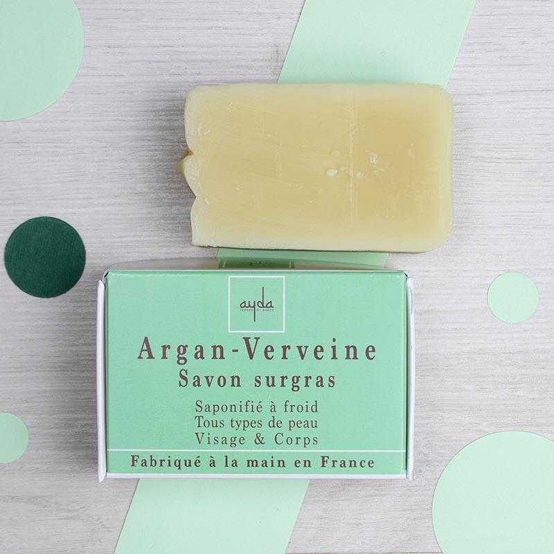 Savon naturel surgras Argan & Verveine - Ayda   GreenMeow