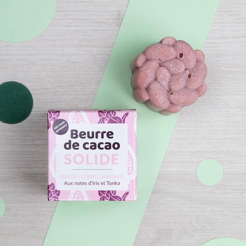 Beurre de Cacao solide rose et bio - Lamazuna | GreenMeow