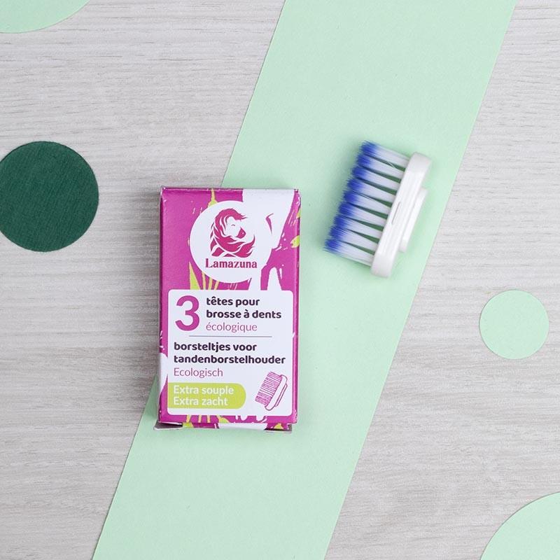 Recharge 3 têtes Extra Souples pour brosse à dents Lamazuna