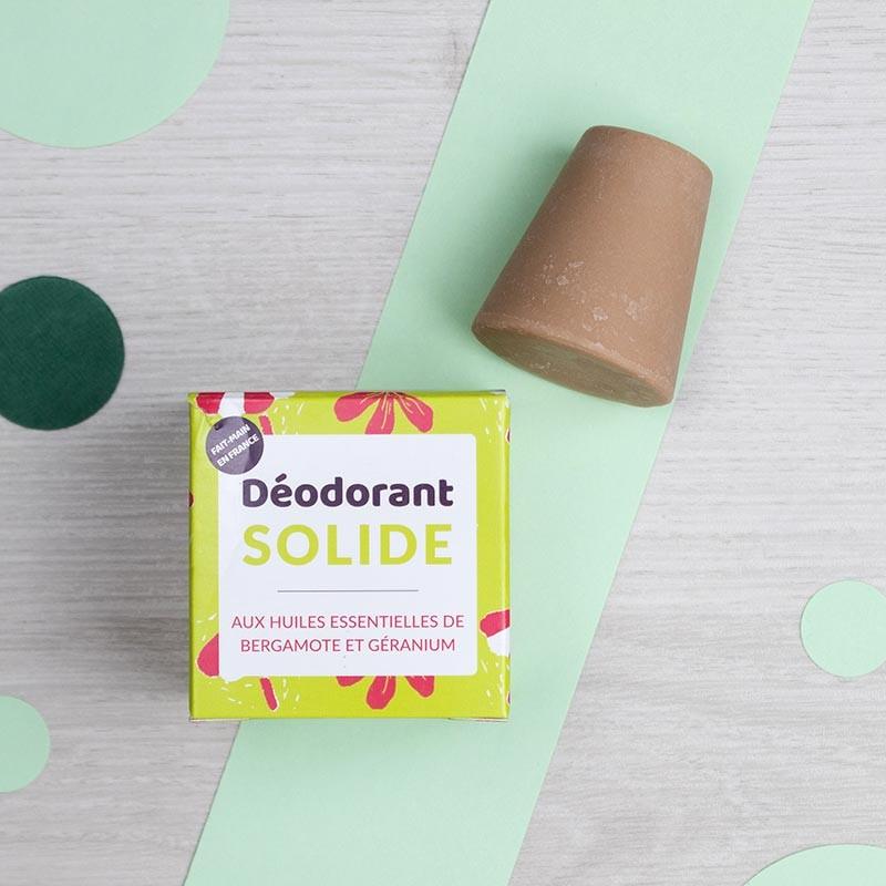 Déodorant solide naturel - Bergamote & Géranium Lamazuna | GreenMeow