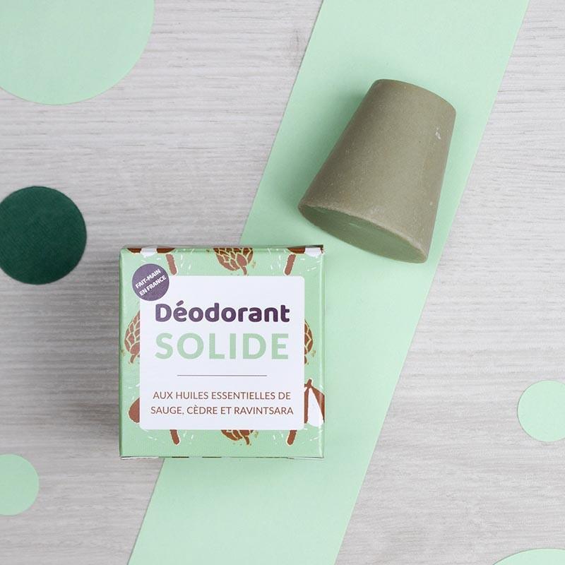 Déodorant Solide Sauge, Cèdre & Ravintsara - Lamazuna | GreenMeow
