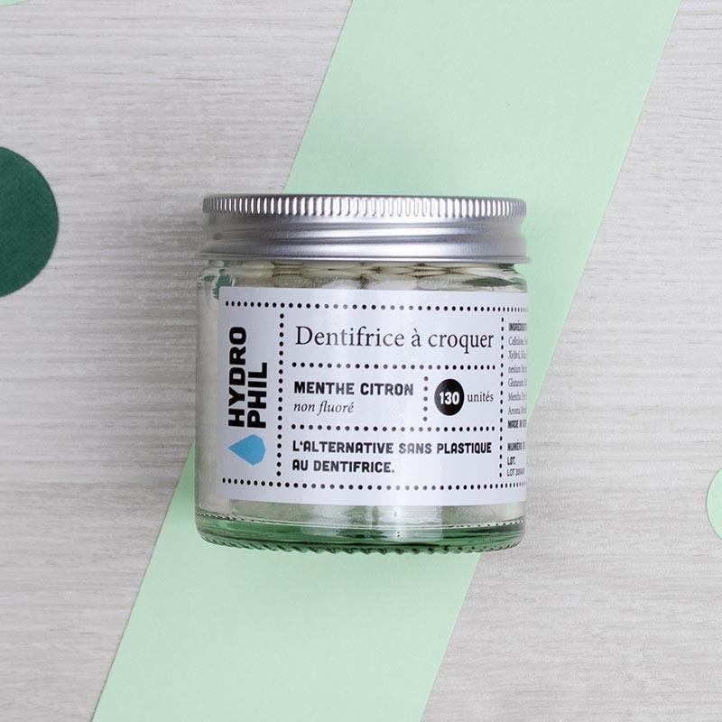 Dentifrice à croquer Menthe et Citron - Hydrophil | GreenMeow