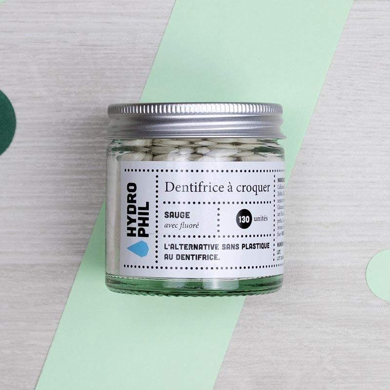 Dentifrice à croquer à la Sauge - Hydrophil | GreenMeow