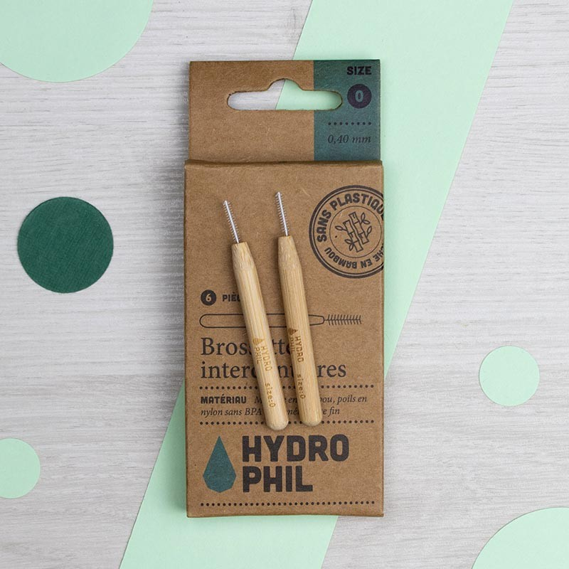 Lot de 6 Brossettes interdentaires 0,40 mm - Hydrophil | GreenMeow