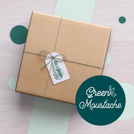 Box Green Moustache GreenMeow