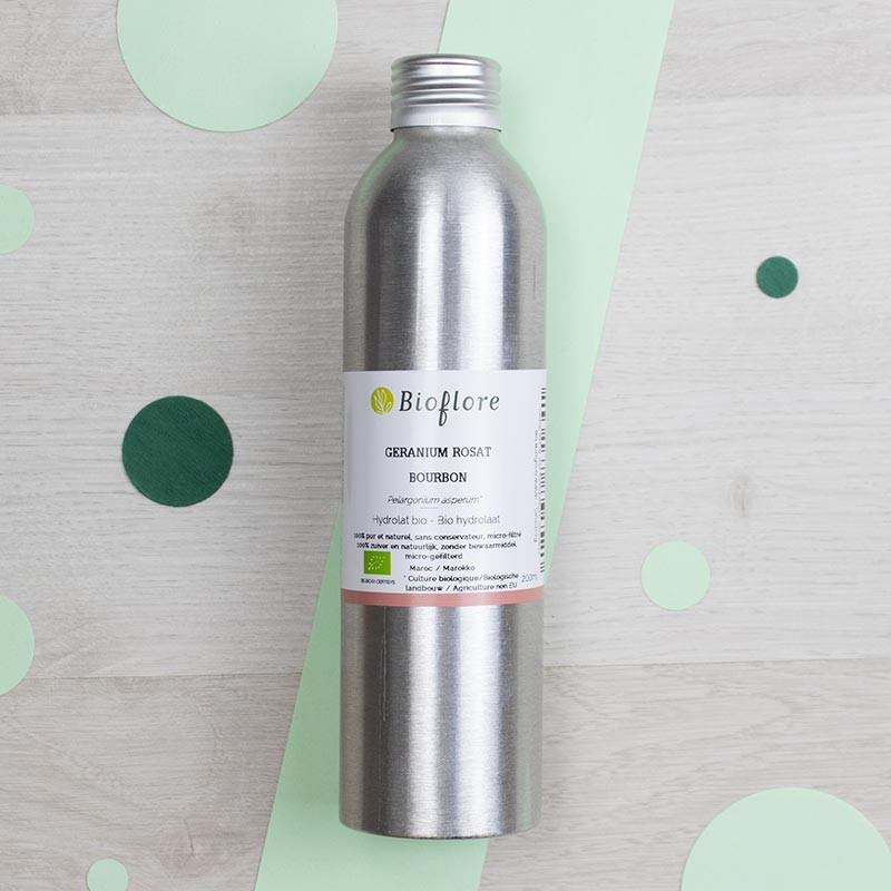Hydrolat de Géranium Rosat Bourbon Bioflore   GreenMeow