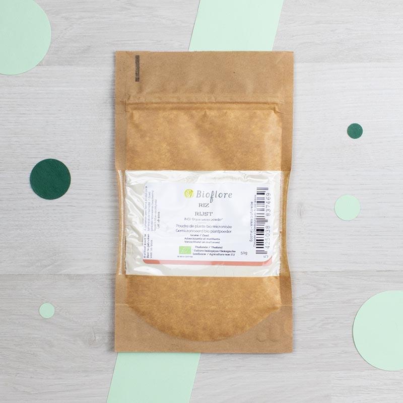 Poudre de Riz micronisée bio - Bioflore | GreenMeow