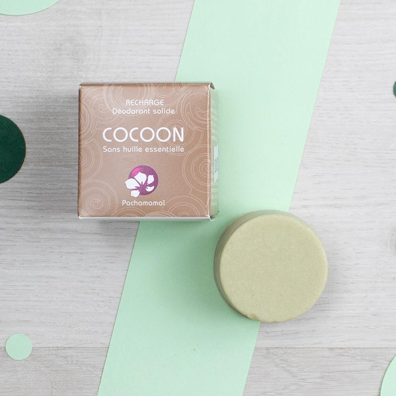 Cocoon Déodorant solide naturel de Pachamamaï   GreenMeow