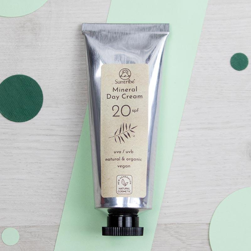 Crème de jour minérale visage SPF20 - Suntribe   GreenMeow