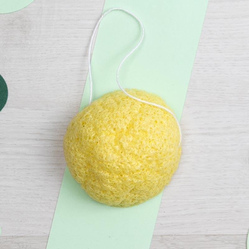 Eponge Konjac au Citron - peaux grasses - Chamarrel | GreenMeow