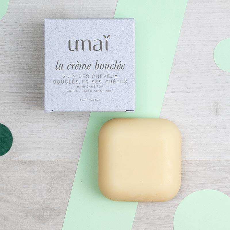 La Crème bouclée - soin solide pour cheveux bouclés - Umaï   GreenMeow