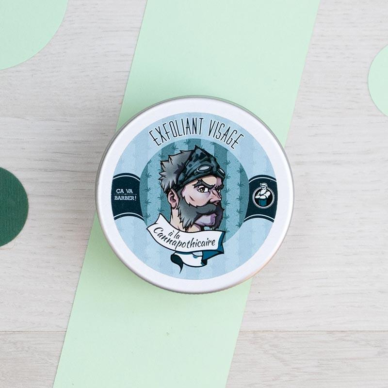 Masque exfoliant visage à la Cannapothicaire - Ca va Barber   GreenMeow