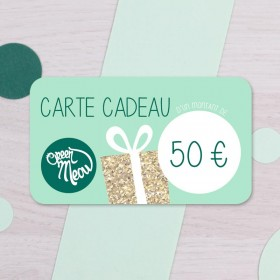 Carte cadeau 50 €
