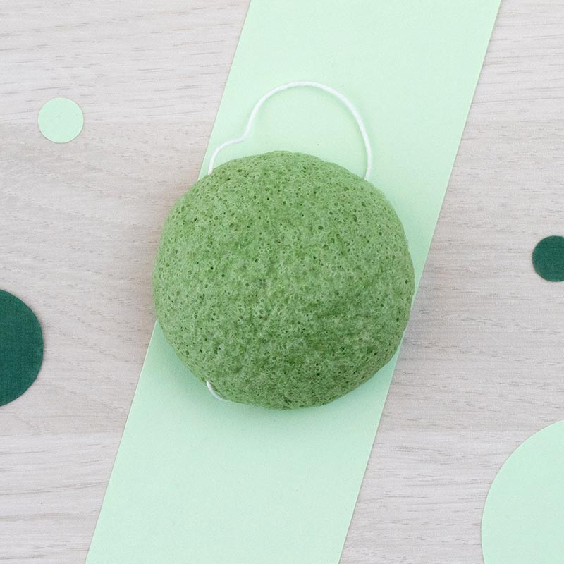 Eponge Konjac visage à l'Argile Verte - DBS   GreenMeow