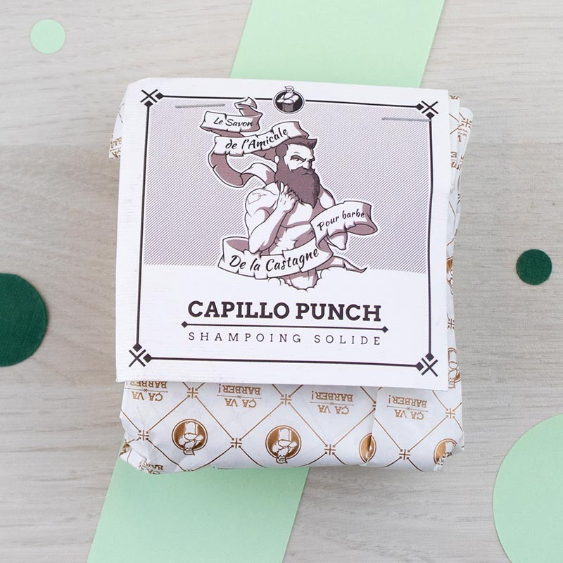 Capillo Punch shampoing solide 50 g Ça va barber ! GreenMeow