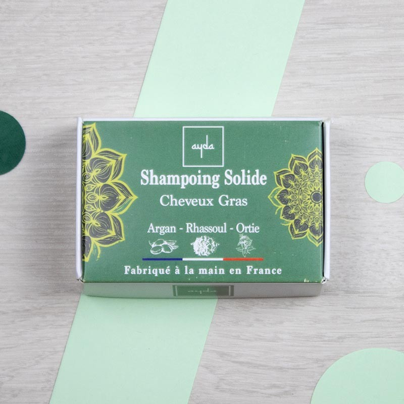 Shampoing solide naturel pour cheveux gras - Ayda   GreenMeow