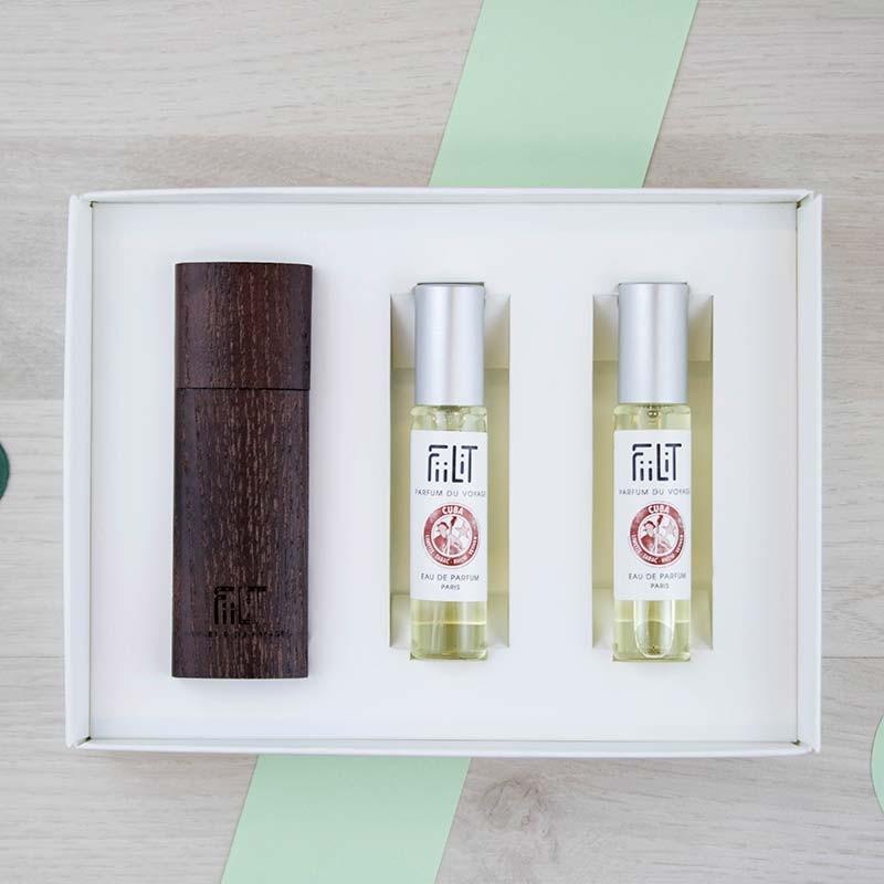 Coffret écrin bois Eau de parfum Cuba FiiLiT | GreenMeow