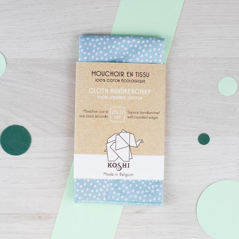 Mouchoir small Bleu ciel Koshi | GreenMeow