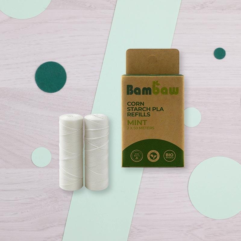 Recharges de Fil dentaire vegan à la menthe - Bambaw | GreenMeow
