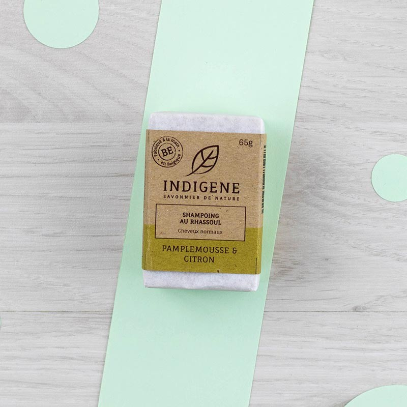 Shampoing solide Pamplemousse Cheveux normaux Indigène   GreenMeow
