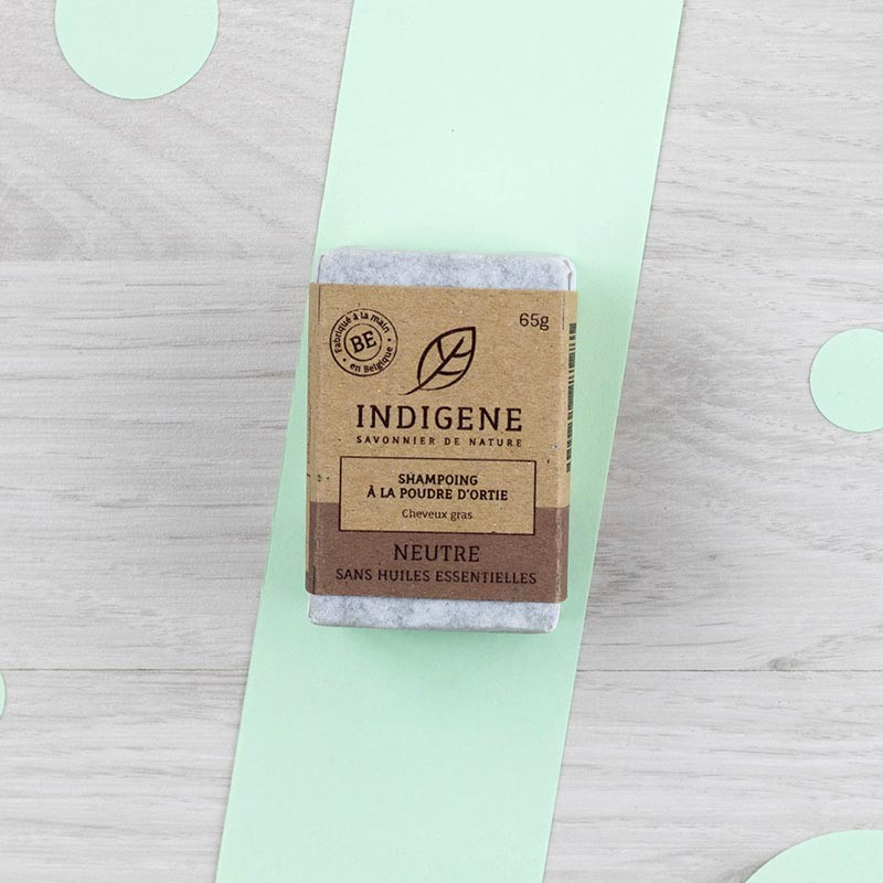 Shampoing solide Ortie Cheveux gras Indigène | GreenMeow