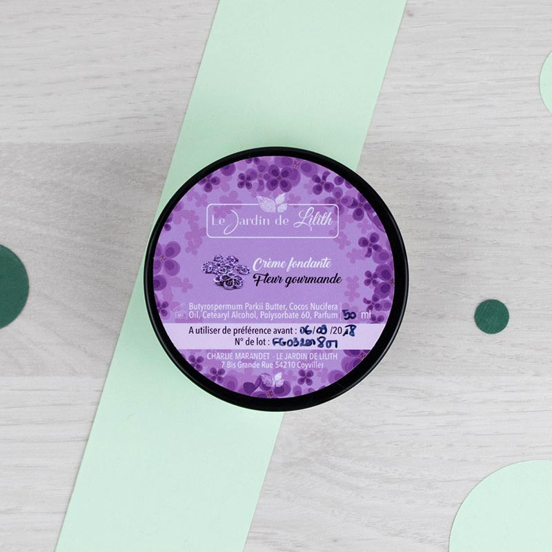 Crème fondante Fleur gourmande Le Jardin de Lilith | GreenMeow