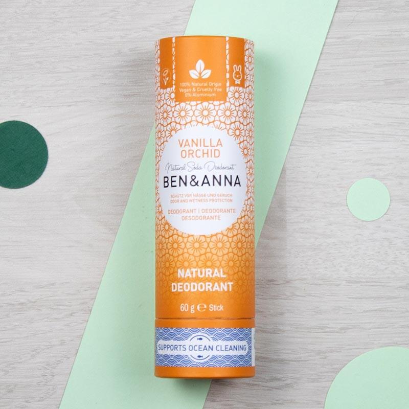 Déodorant stick naturel Vanilla Orchid - Ben & Anna | GreenMeow