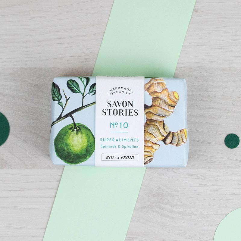 Savon n°10 Le détoxifiant Superaliments Savon Stories | GreenMeow