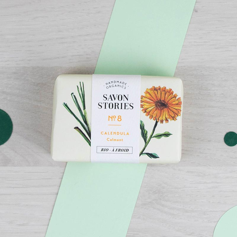 Savon n°8 Calendula - Citronnelle Savon Stories | GreenMeow