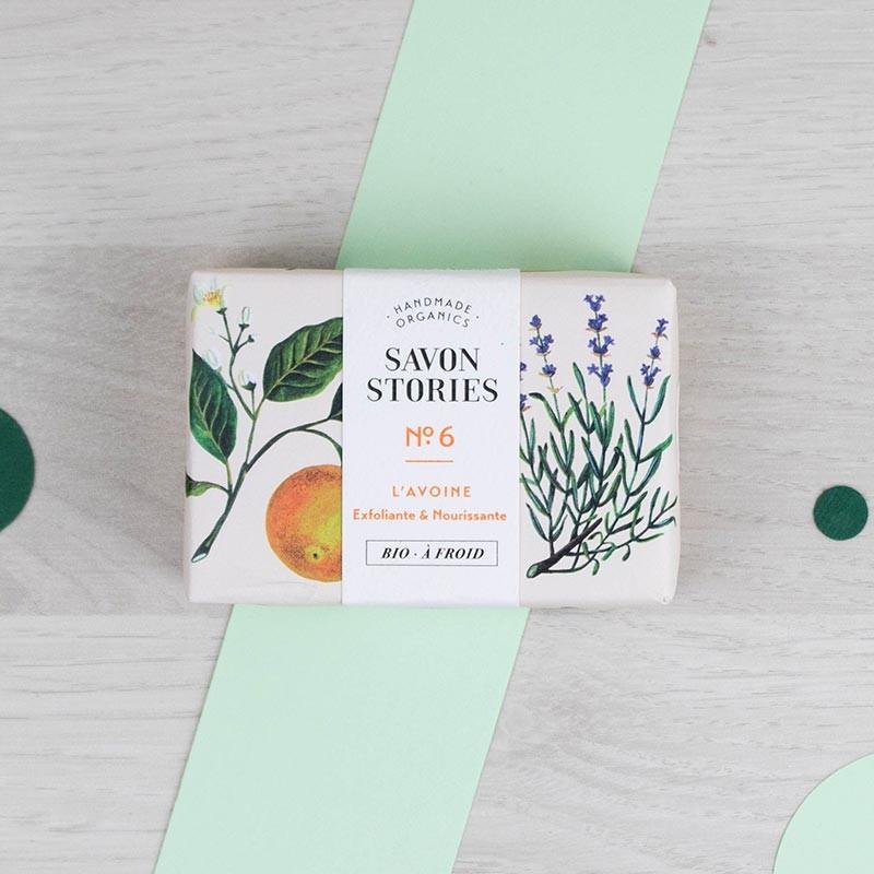 Savon n°6 Le doux Avoine Savon Stories | GreenMeow