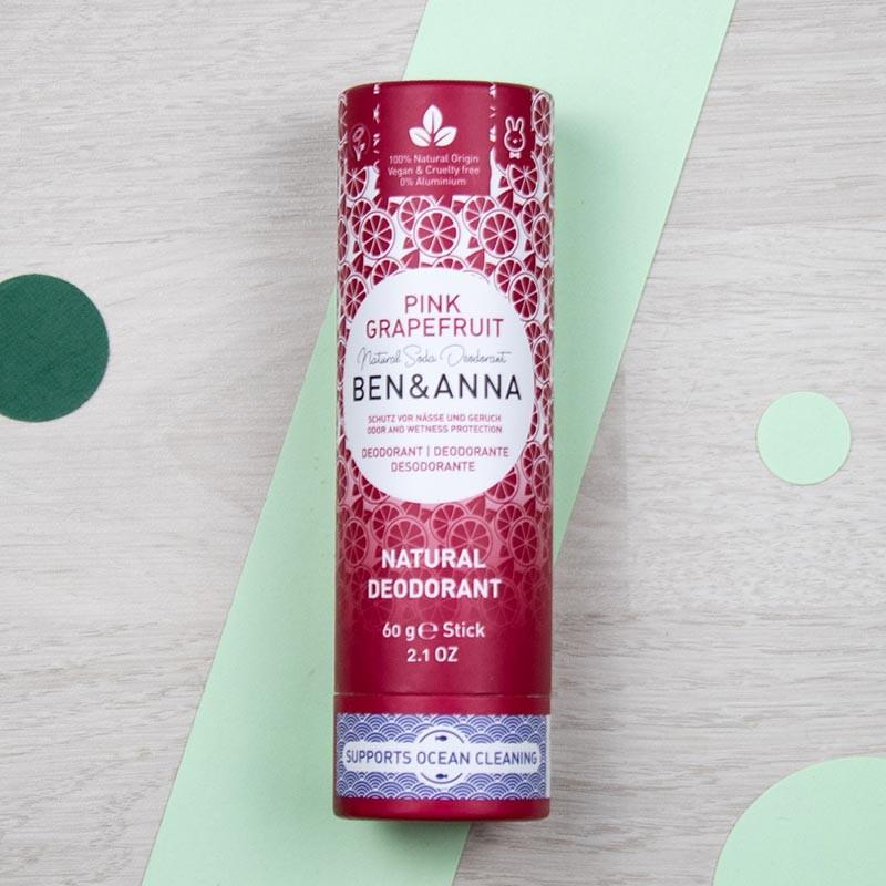 Déodorant stick naturel - Pink Grapefruit - Ben & Anna | GreenMeow