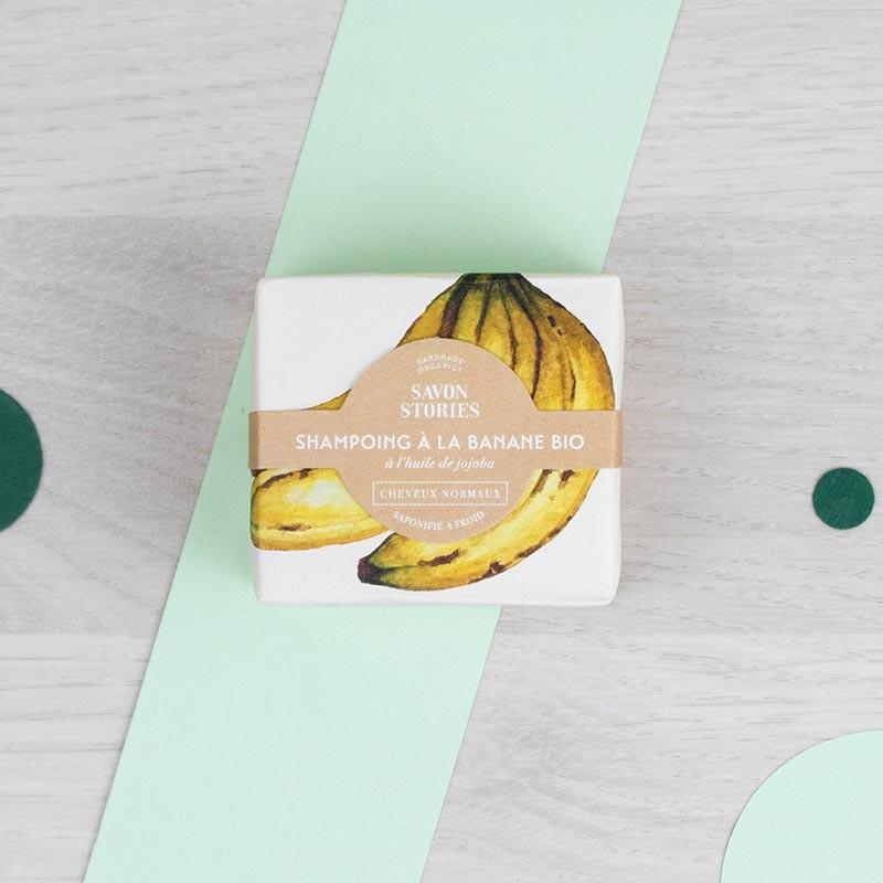 Shampoing solide Banane et huile de Jojoba Savon Stories | GreenMeow