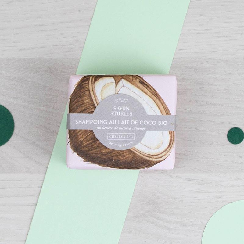 Shampoing solide au Lait de Coco Savon Stories | GreenMeow
