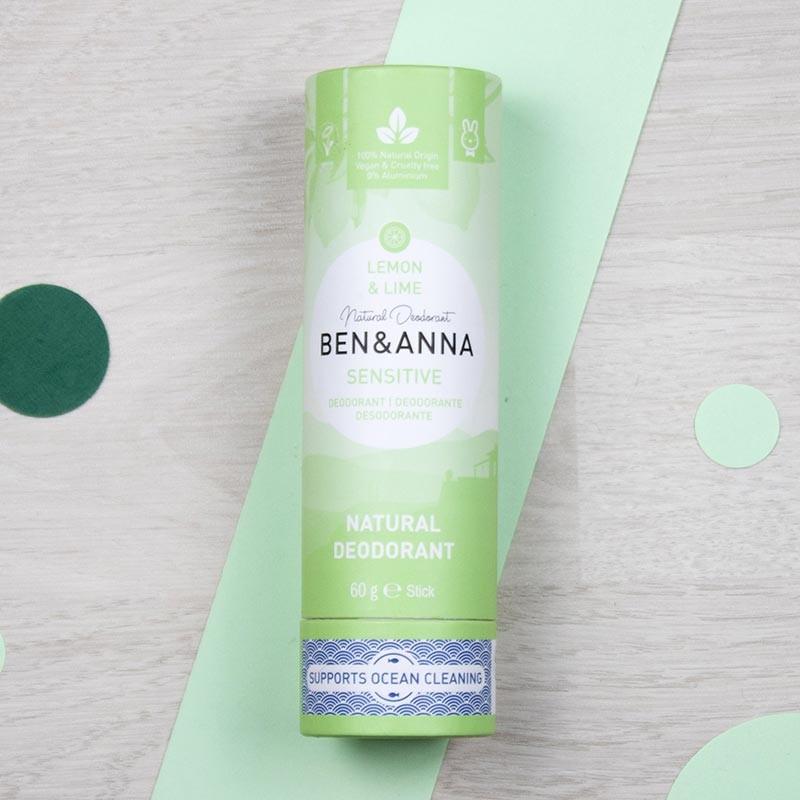 Déodorant stick sans bicarbonate Lemon & Lime - Ben & Anna | GreenMeow