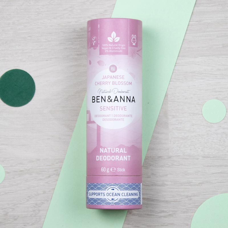 Déodorant stick - Japanese Cherry Blossom - Ben & Anna   GreenMeow