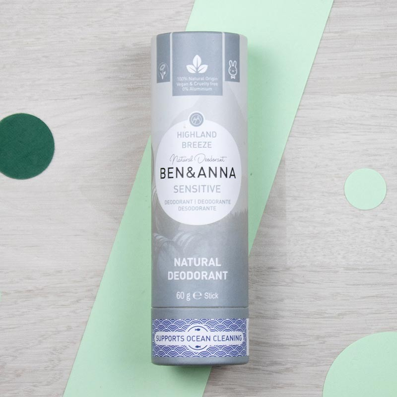 Déodorant stick sans bicarbonate Highland Breeze Ben & Anna | GreenMeow